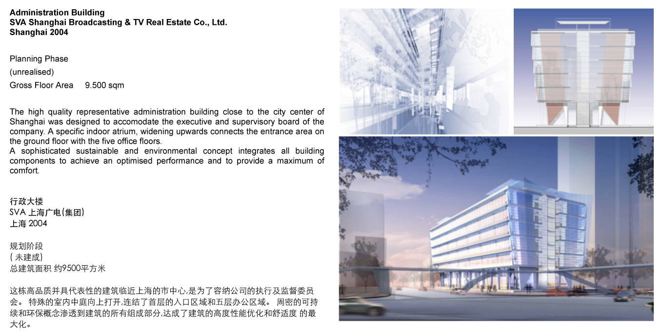 Administration Building SVA Shanghai Broadcasting TV Real Estate Co Ltd Shanghai CN 2004