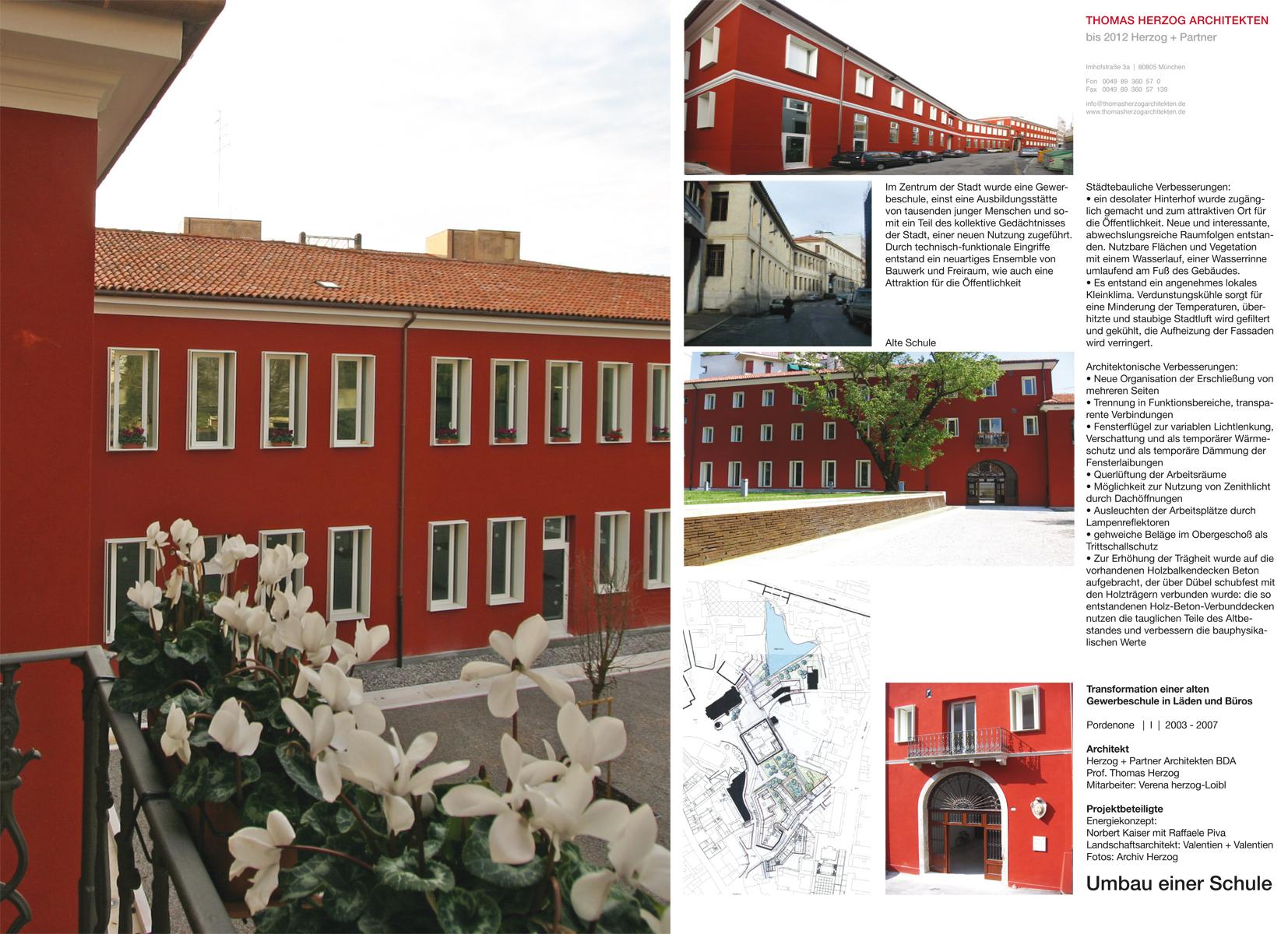 Umbau einer Schule Pordenone IT 2007