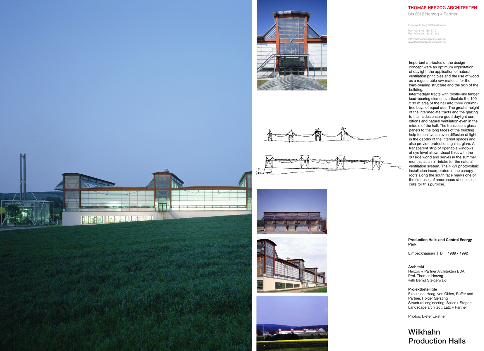 Production Halls for Wilkhahn Eimbeckhausen DE 1992