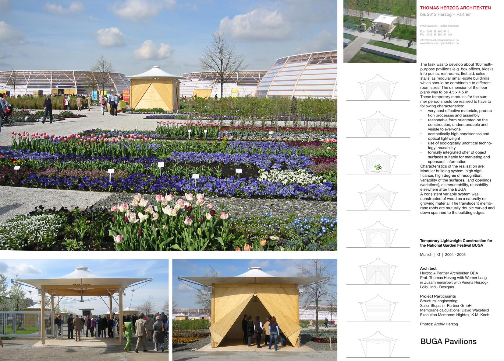 BUGA Pavilions Munich DE 2005