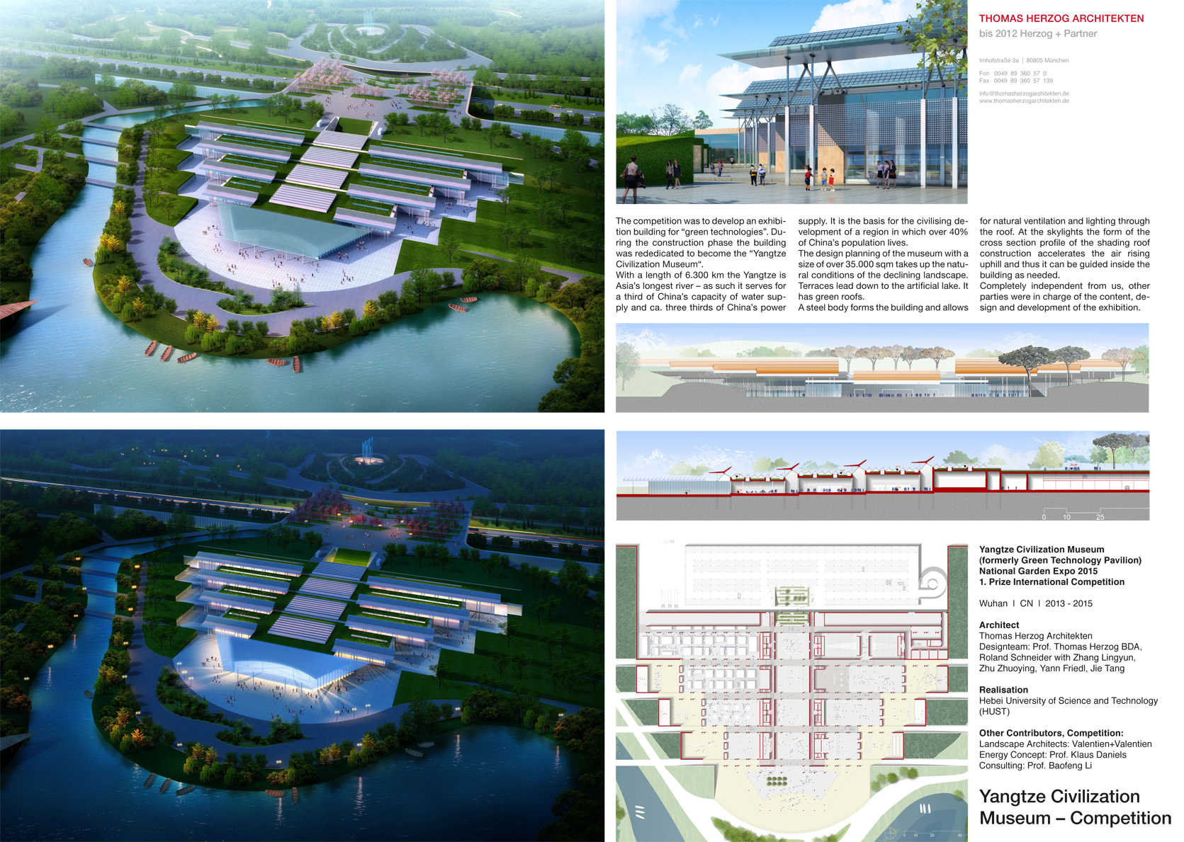 Yangtze Civilization Museum Competition: Green Technology Pavilion Wuhan CN 2015