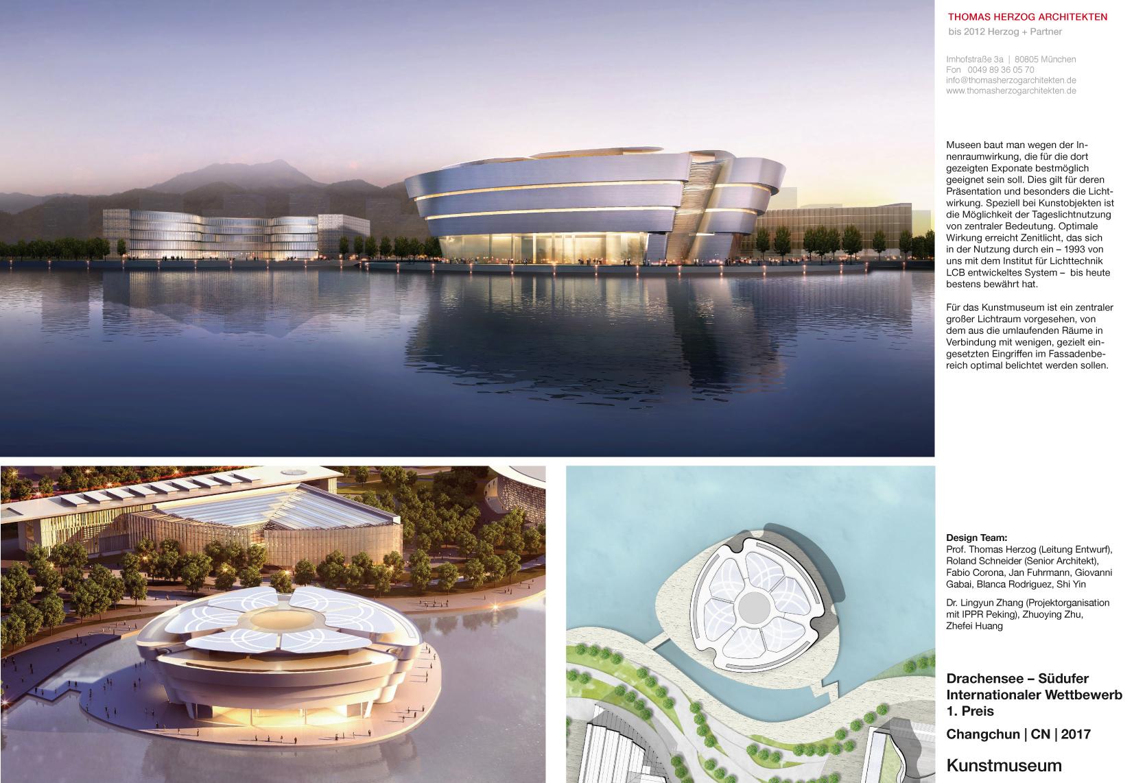 Kunstmuseum Drachensee Südufer Changchun CN 2017 Internationaler Wettbewerb 1.Preis