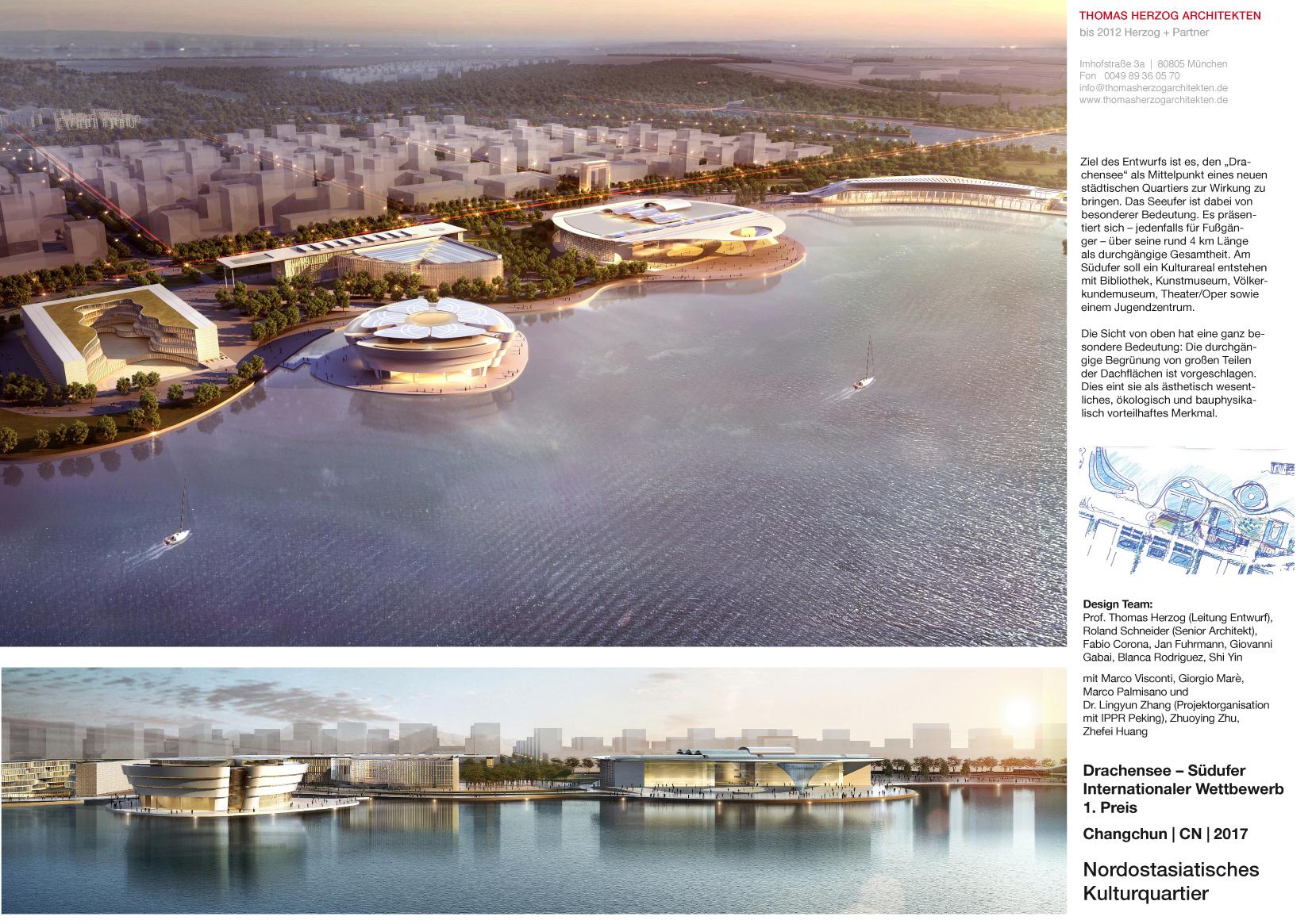 Nordostasiatisches Kulturquartier Drachensee Südufer Changchun CN 2017 Internationaler Wettbewerb 1.Preis