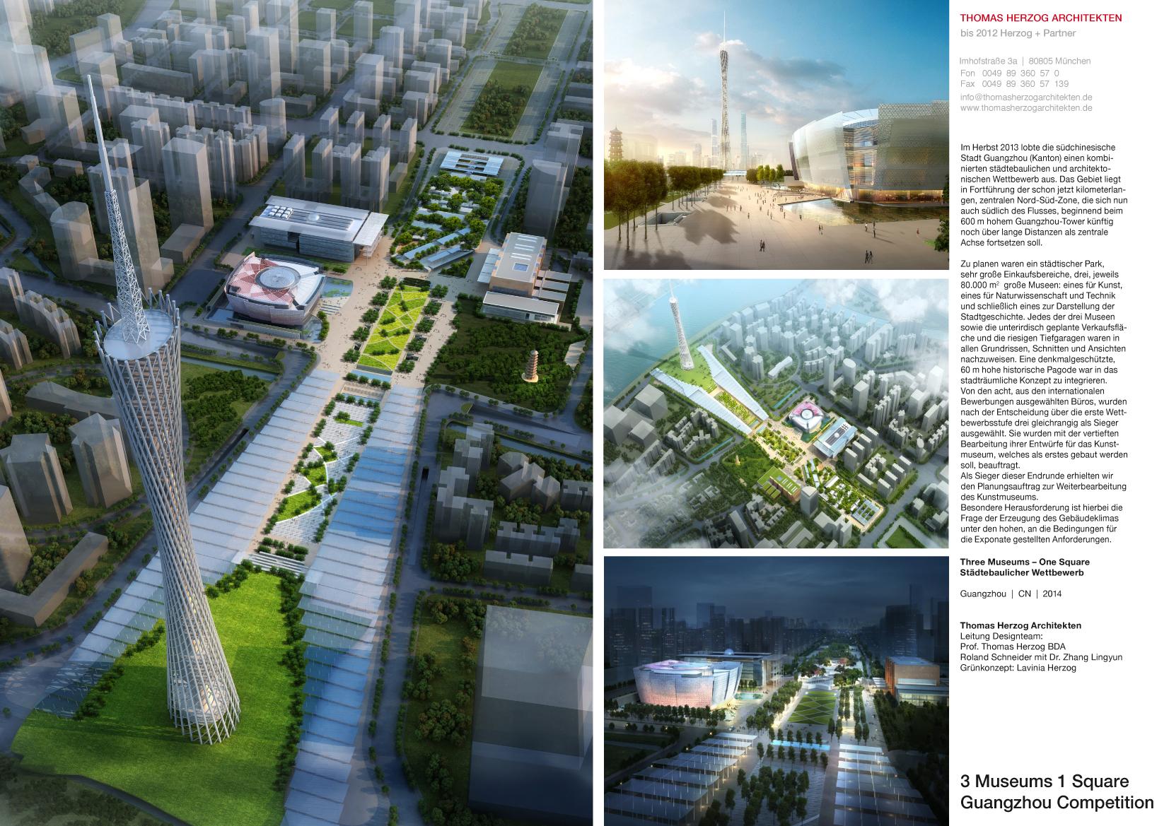 Wettbewerb 1.Preis Drei Museen Ein Platz Guangzhou CN 2014