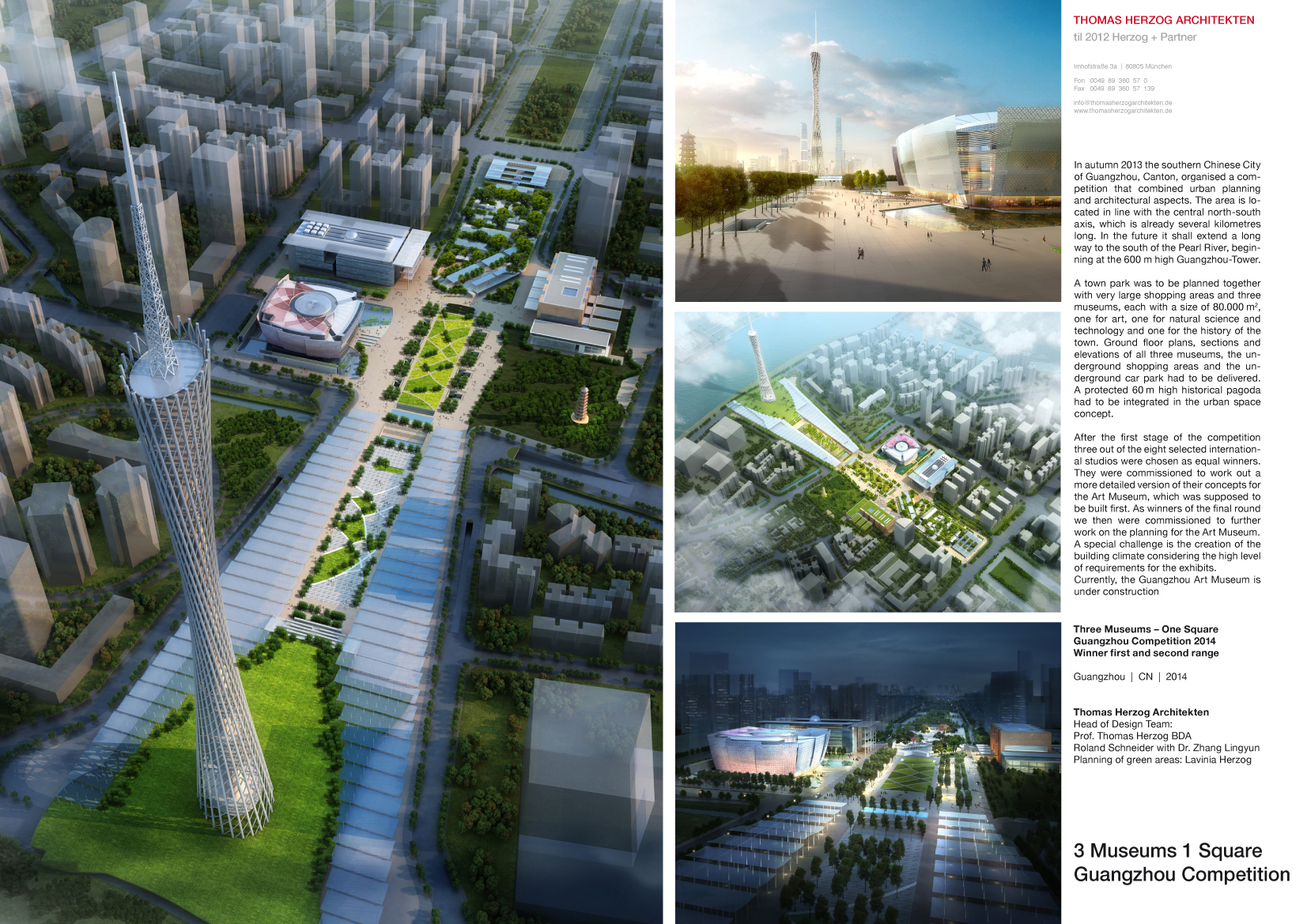 Competition 1. Prize Three Museums One Square Guangzhou 2014